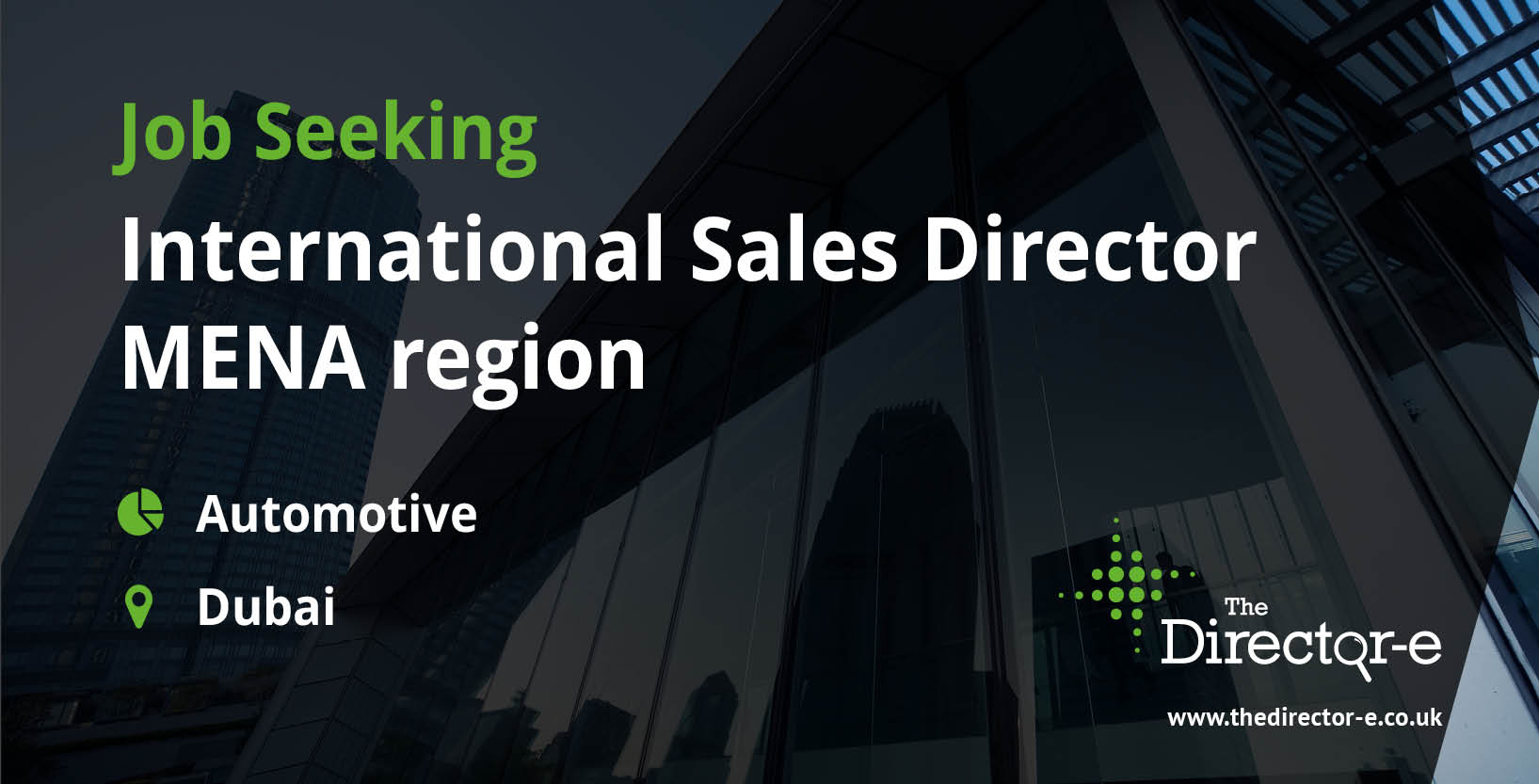 automotive international sales director mena region dubai tde job seeker social graphic
