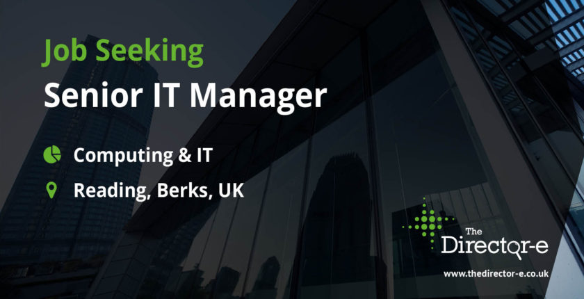 Computing IT Senior IT Manager Reading Berks UK TDE Job Seeker Social Graphic
