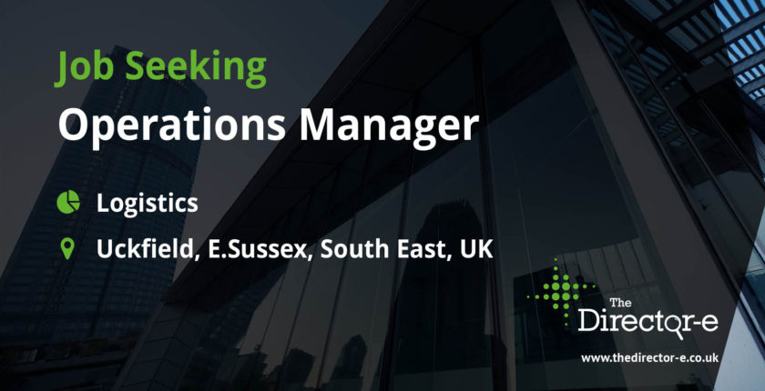 Logistics Operations Manager Uckfield E.Sussex South East UK TDE Job Seeker Social Graphic