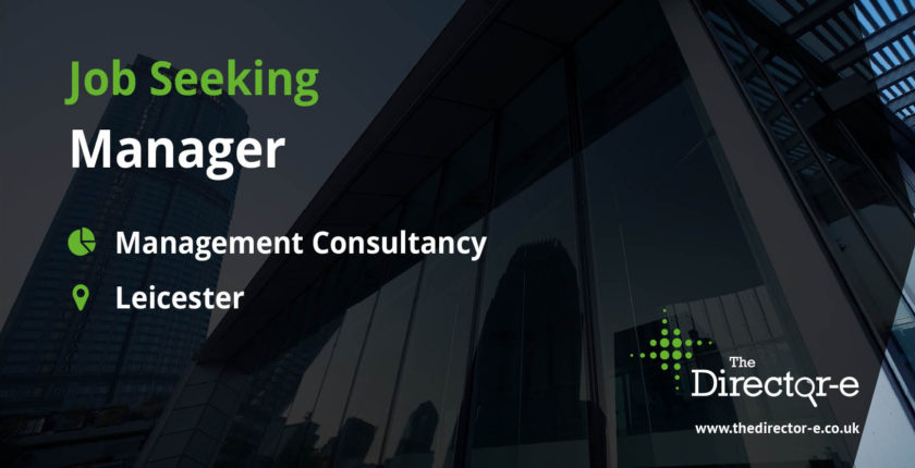 Management Consultancy Manager Leicester TDE Job Seeker Social Graphic